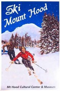 ski mt hood poster