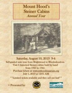 Steiner Cabins Tour @ 2019 Annual Steiner Cabins Tour